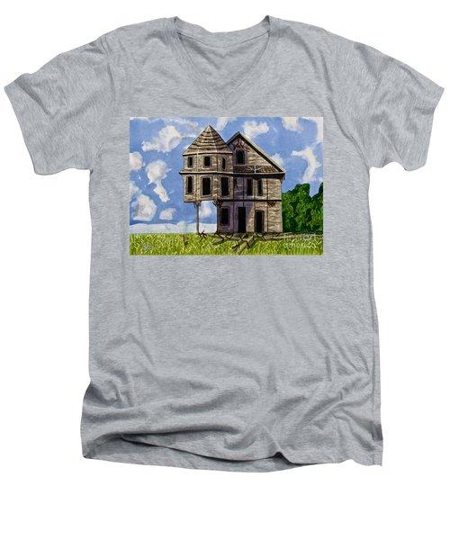 Slumber A Chance To Dream Watercolor Art Prints Men's V-Neck T-Shirt by Valerie Garner