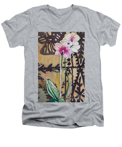 Small Orchids Men's V-Neck T-Shirt