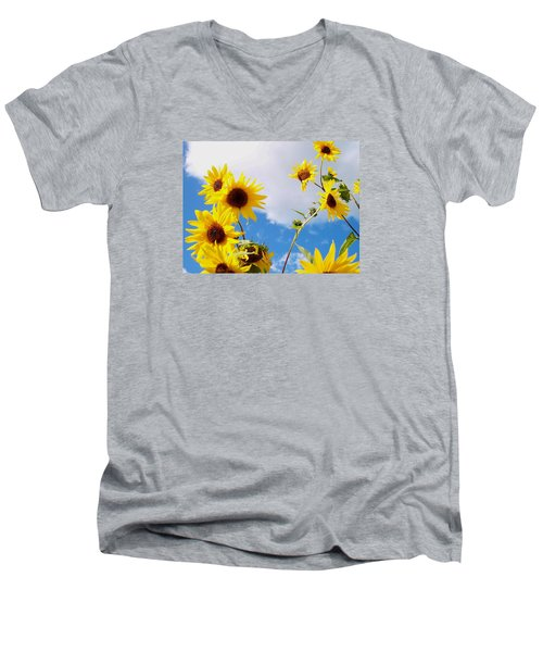 Men's V-Neck T-Shirt featuring the photograph Smile Down On Me by Mary Wolf