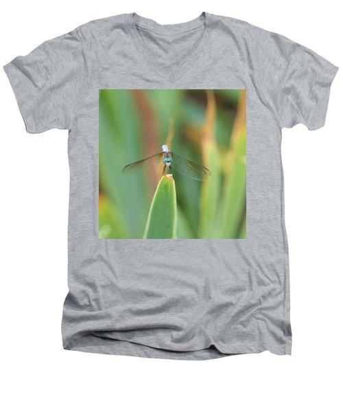 Smiling Dragonfly Men's V-Neck T-Shirt