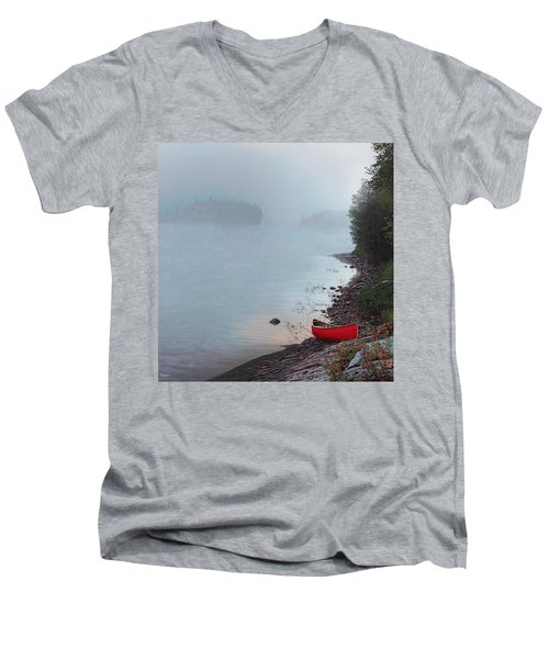 Smoke On The Water Men's V-Neck T-Shirt by Kenneth M  Kirsch