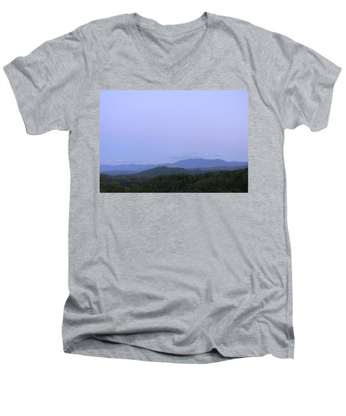 Smokies At Dusk Men's V-Neck T-Shirt by Mark Minier