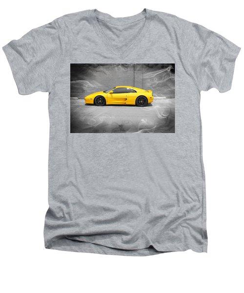 Smokin' Hot Ferrari Men's V-Neck T-Shirt by Kathy Churchman