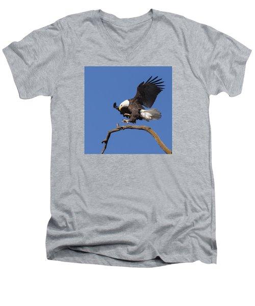 Smooth Landing 6 Men's V-Neck T-Shirt by David Lester