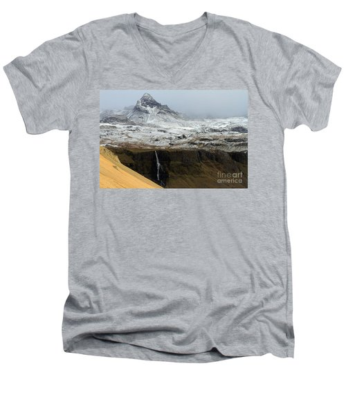 Men's V-Neck T-Shirt featuring the photograph Snaefellsnes Peninsula #1 by Paula Guttilla