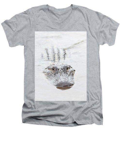 Sneaky Swamp Gator Men's V-Neck T-Shirt