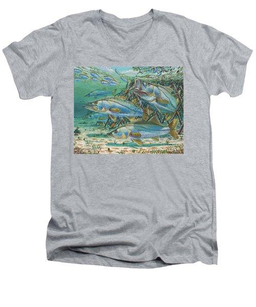 Snook Attack In0014 Men's V-Neck T-Shirt