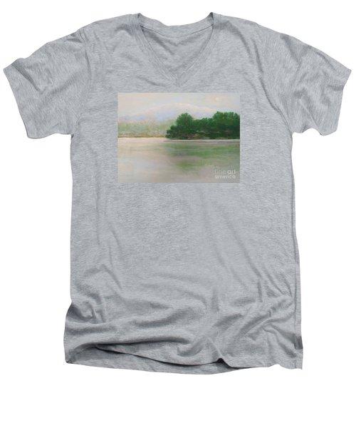 Snow At Beaver Lake Men's V-Neck T-Shirt