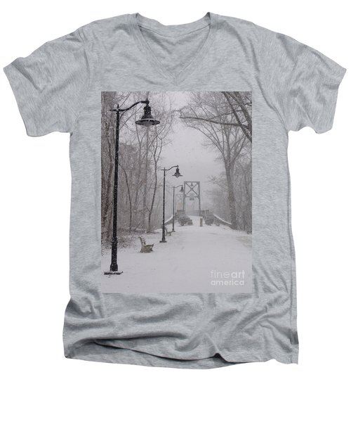 Snow At Bulls Island - 05 Men's V-Neck T-Shirt