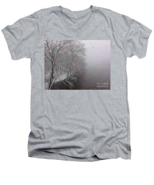 Snow At Bulls Island - 12 Men's V-Neck T-Shirt