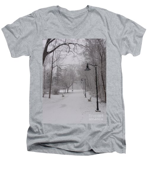 Snow At Bulls Island - 29 Men's V-Neck T-Shirt