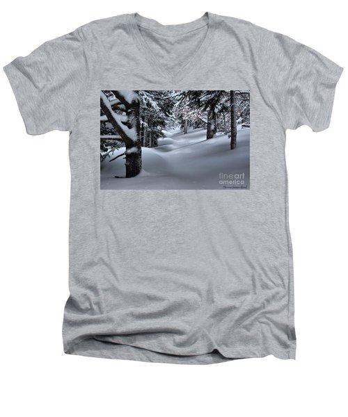 Snow Covered Trail Men's V-Neck T-Shirt