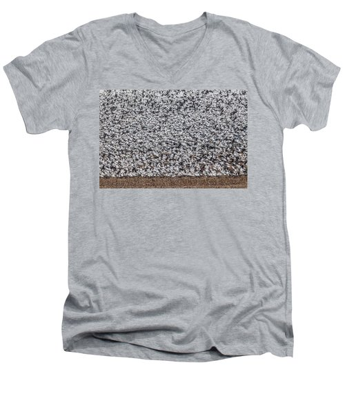 Men's V-Neck T-Shirt featuring the photograph Snow Geese by Brian Williamson