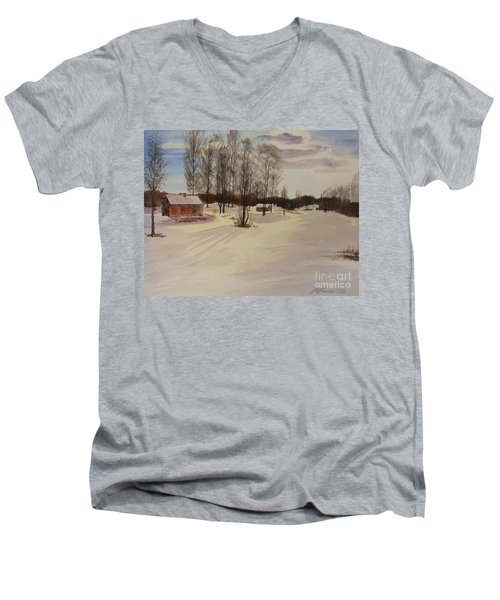 Snow In Solbrinken Men's V-Neck T-Shirt