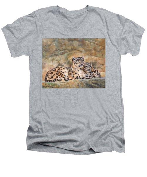 Snow Leopards Men's V-Neck T-Shirt