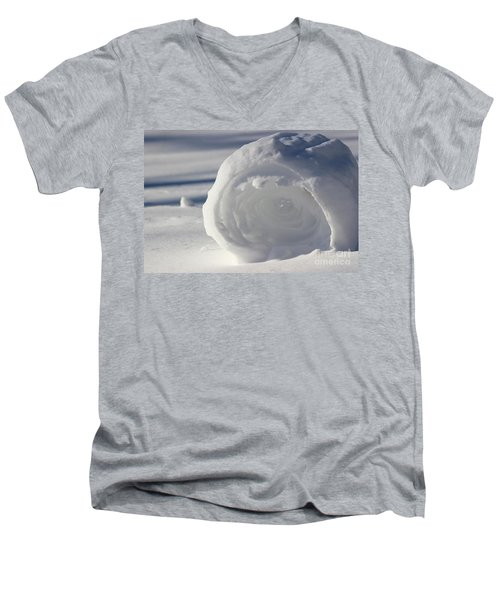 Snow Roller In Late Afternoon Men's V-Neck T-Shirt