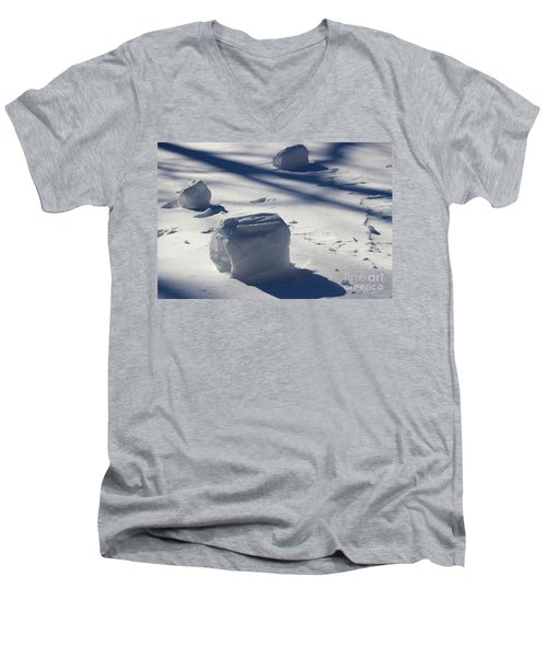 Snow Roller Trio In Shadows Men's V-Neck T-Shirt