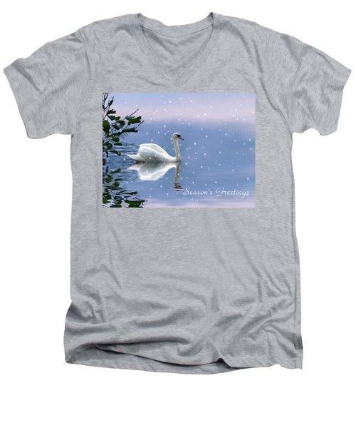 Snow Swan II Men's V-Neck T-Shirt