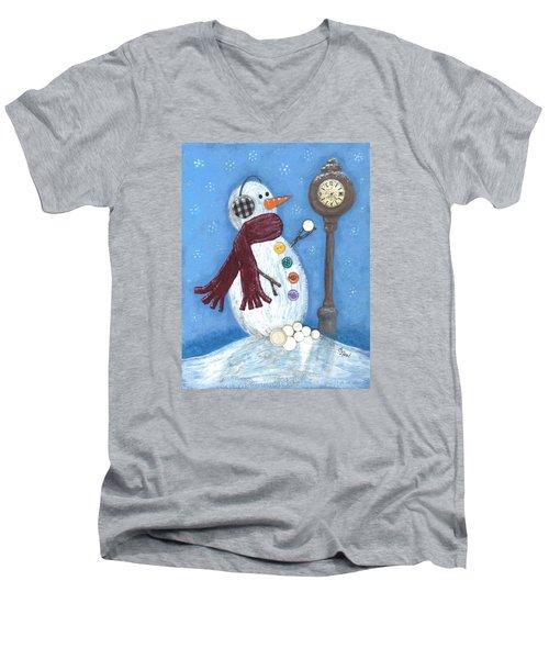 Snow Time Men's V-Neck T-Shirt