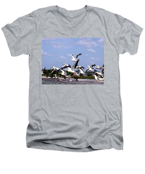 Snowbirds Heading South Men's V-Neck T-Shirt