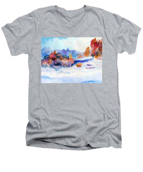 Snowshoe Day Men's V-Neck T-Shirt