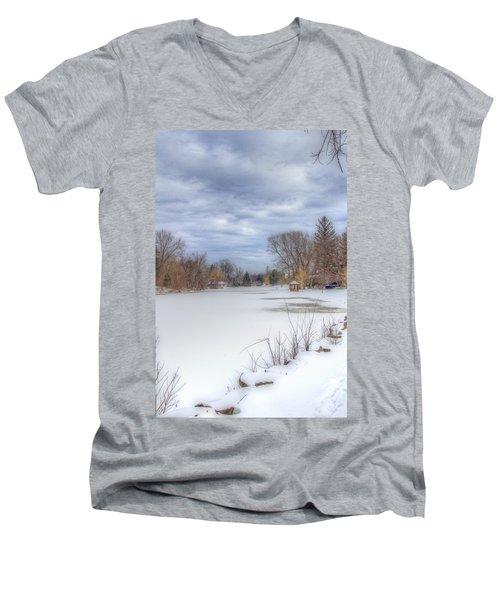 Snowy Lake Men's V-Neck T-Shirt