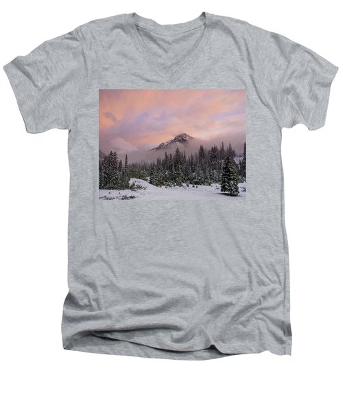 Snowy Surprise Men's V-Neck T-Shirt
