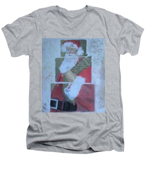 S'nta Claus Men's V-Neck T-Shirt by Claudia Goodell