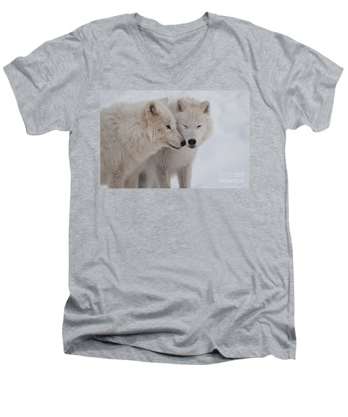 Men's V-Neck T-Shirt featuring the photograph Snuggle Buddies by Bianca Nadeau