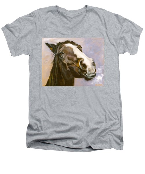 Hot To Trot Men's V-Neck T-Shirt