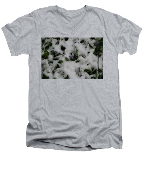 Men's V-Neck T-Shirt featuring the photograph So Much For An Early Spring by David S Reynolds