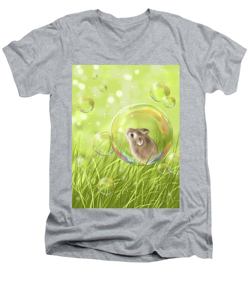 Soap Bubble Men's V-Neck T-Shirt