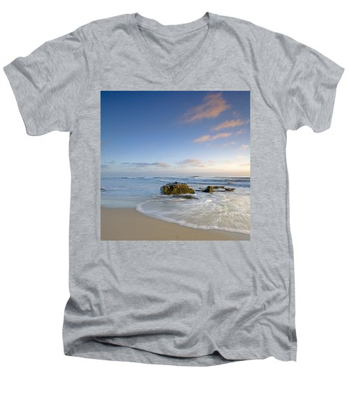 Soft Blue Skies Men's V-Neck T-Shirt by Peter Tellone