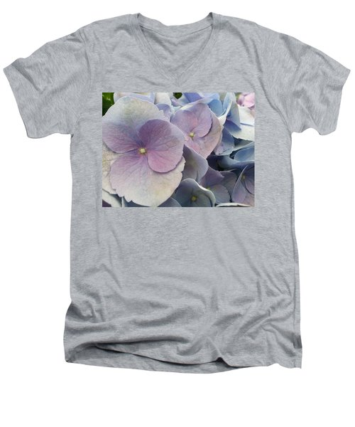 Soft Hydrangea  Men's V-Neck T-Shirt