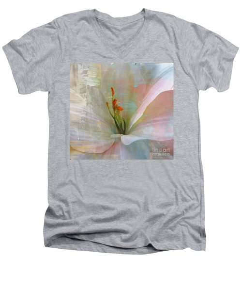 Soft Painted Lily Men's V-Neck T-Shirt