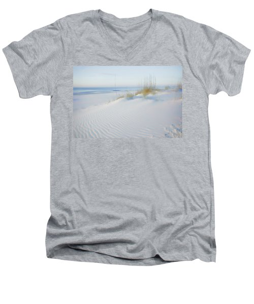 Soft Sandy Beach Men's V-Neck T-Shirt