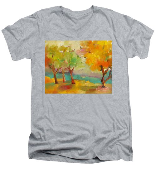 Soft Trees Men's V-Neck T-Shirt