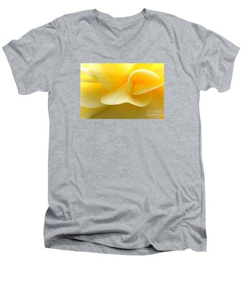 Soft Yellow Men's V-Neck T-Shirt