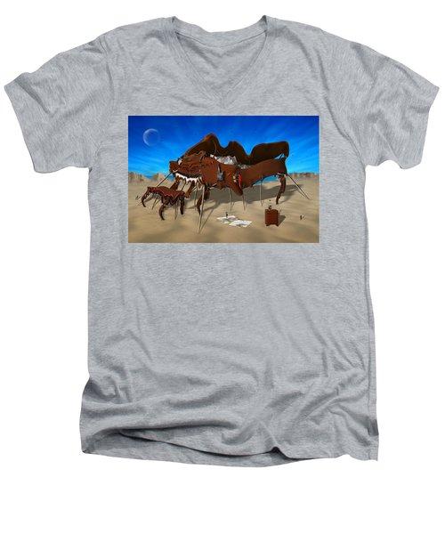 Softe Grand Piano Se Men's V-Neck T-Shirt