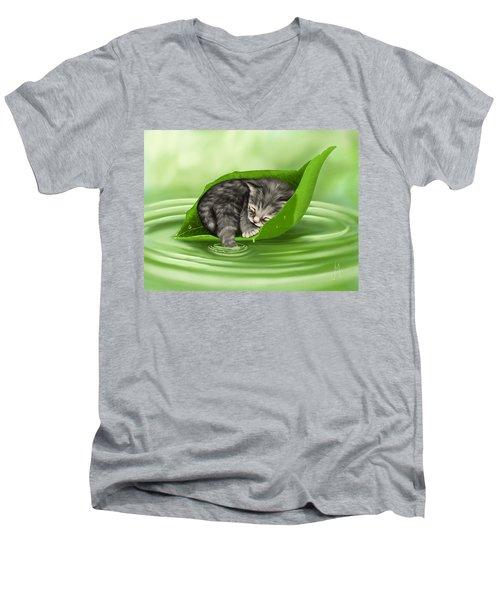 Softly Lulled Men's V-Neck T-Shirt