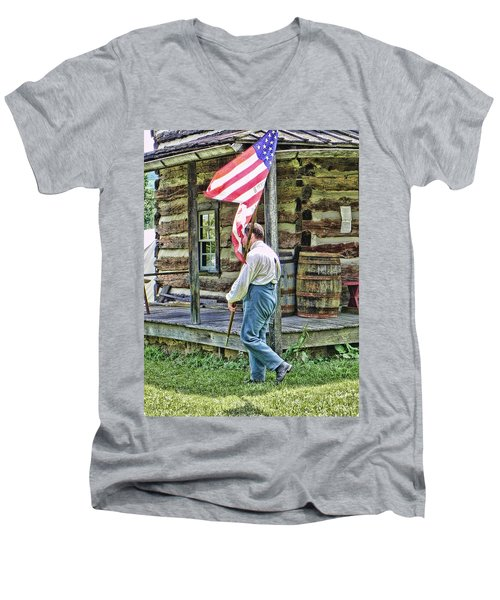 Soldier At Bedford Village Pa Men's V-Neck T-Shirt