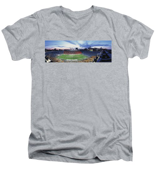 Soldier Field Football, Chicago Men's V-Neck T-Shirt