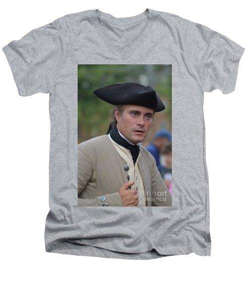 Soldier In Colonial Williamsburg Men's V-Neck T-Shirt