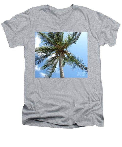 Solitary Palm Men's V-Neck T-Shirt