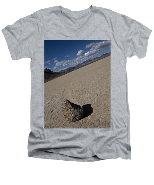 Men's V-Neck T-Shirt featuring the photograph Solo Slider by Joe Schofield