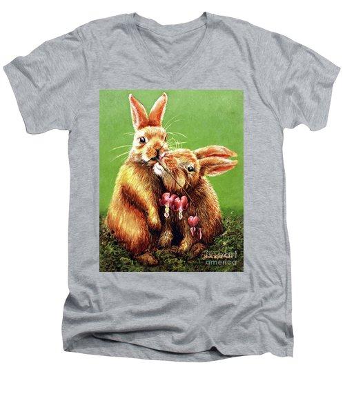 Some Bunny Loves You Men's V-Neck T-Shirt