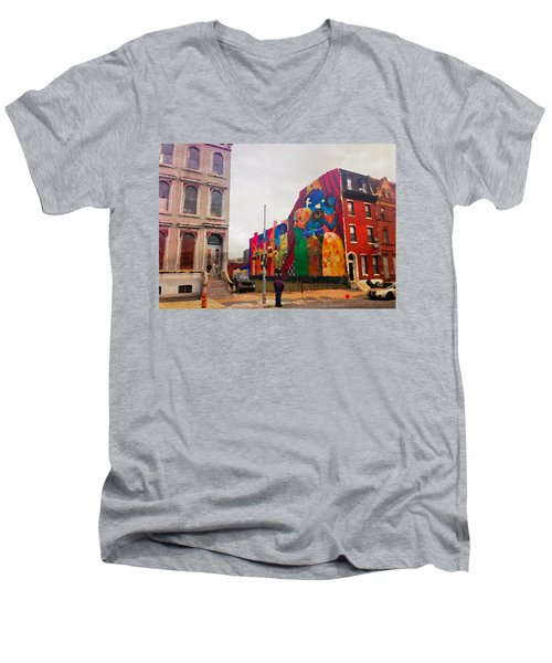 Some Color In Philly Men's V-Neck T-Shirt