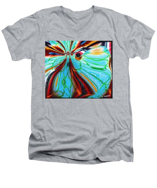 Something Is Watching Me Men's V-Neck T-Shirt