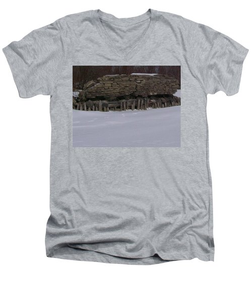 John Hinker's Coal Dock. Men's V-Neck T-Shirt