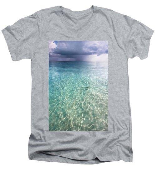Somewhere Is Rainy. Maldives Men's V-Neck T-Shirt